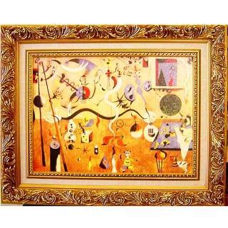 【開運陶源】《小丑的狂歡》米羅抽象畫(中幅)
