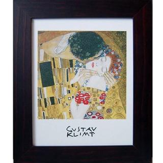 【開運陶源】Klimt克林姆之世界名畫(Kiss...吻  直式)
