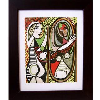 【開運陶源】picasso畢卡索的抽象畫(攬鏡的女人)