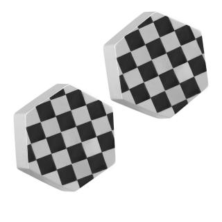 【ROYAL DAMON羅亞戴蒙】『幾何格紋』耳環