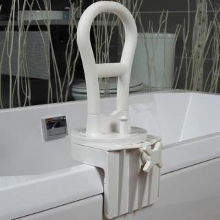 【COLOR】經典咖啡鋁合金靠背洗澡椅(免工具組裝)