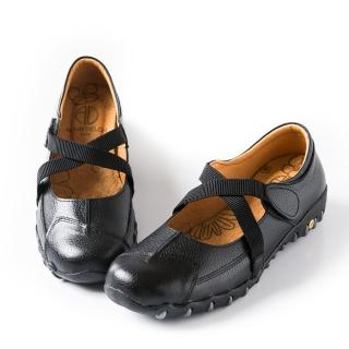 【ALAIN DELON】休閒舒適-MIT真皮休閒鞋W7379(2色   黑色 咖啡色)