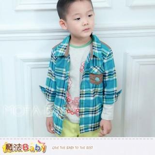 【魔法Baby】新潮有型男童格紋襯衫(k30297)