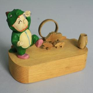 【荒木藝品雕刻】恐龍豬memo架、名片架