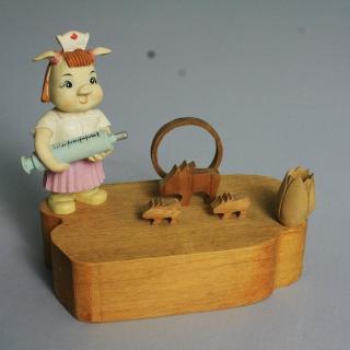【荒木藝品雕刻】格爾豬memo架、名片架