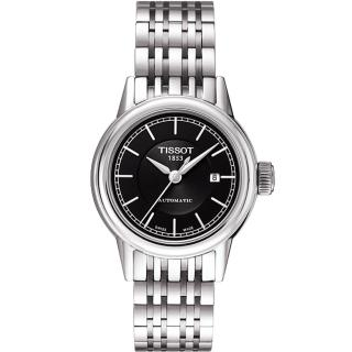 【TISSOT】T-Classic Carson 經典機械女錶-黑-銀(T0852071105100)