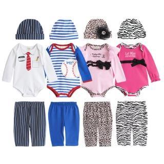 【baby童衣】男童女童包屁衣 長褲 3件/套 套裝 37291(共四色)