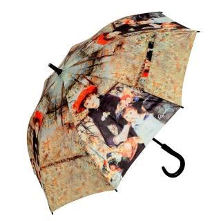 【雨傘詩人】名畫藝術系列 抗風抗UV全玻璃纖維自動直傘(雷諾瓦系列)