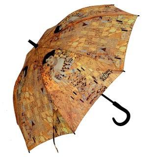 【雨傘詩人】名畫藝術系列 抗風抗UV全玻璃纖維自動直傘(克林姆系列)