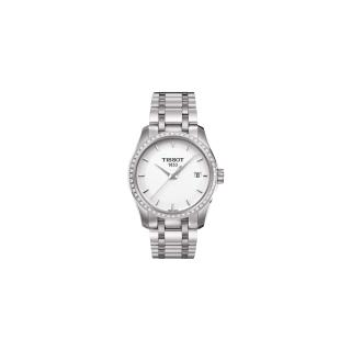 【TISSOT】T-Trend Couturier Lady 時尚簡約鑽錶(T0352106101100)