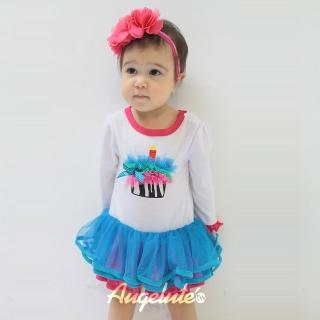 【BABY童衣】立體蛋糕蓬蓬紗包屁裙 37222(白色)