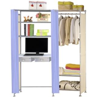 【巴塞隆納】W3型60公分+E90公分電腦桌衣櫥架
