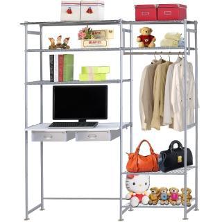 【巴塞隆納】WP4型60公分+E90公分電腦桌衣櫥架(無防塵)