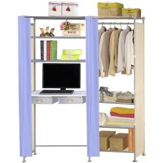 【巴塞隆納】W4型60公分+E90公分電腦桌衣櫥架