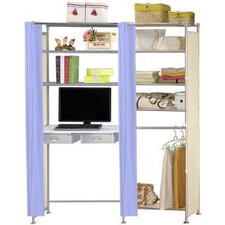 【巴塞隆納】W5型60公分+E90公分電腦桌衣櫥架