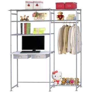 【巴塞隆納】WP3型60公分+E90公分電腦桌衣櫥架(無防塵)