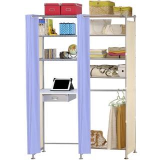 【巴塞隆納】W5型60公分+E60公分電腦桌衣櫥架