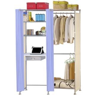 【巴塞隆納】W2型60公分+E60公分電腦桌衣櫥架