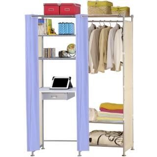 【巴塞隆納】W3型60公分+E60公分電腦桌衣櫥架