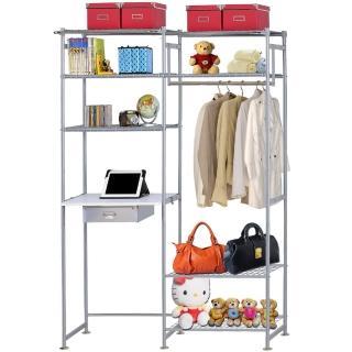 【巴塞隆納】WP4型60公分+E60公分電腦桌衣櫥架(無防塵)