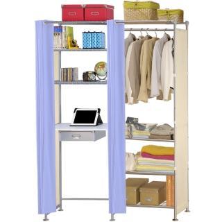 【巴塞隆納】W4型60公分+E60公分電腦桌衣櫥架