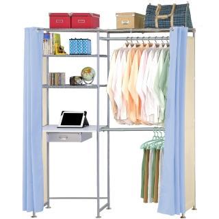 【巴塞隆納】E60型防塵伸縮電腦桌衣櫥架
