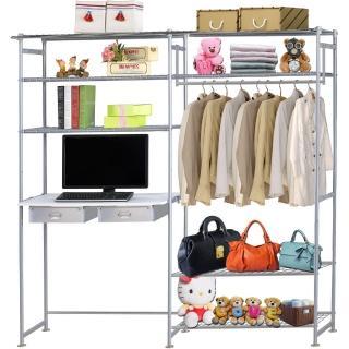 【巴塞隆納】WP4型90公分+E90公分電腦桌衣櫥架(無防塵)