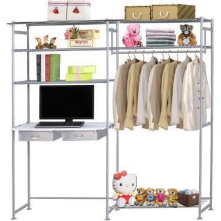 【巴塞隆納】WP3型90公分+E90公分電腦桌衣櫥架(無防塵)