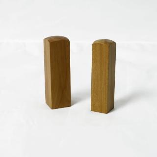 【荒木雕塑藝品】老山檀香木印章(五分)