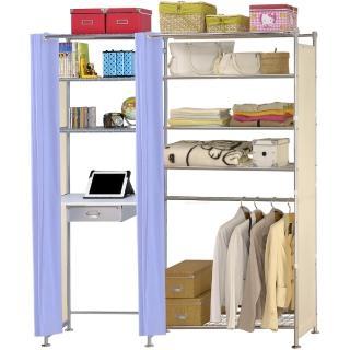 【巴塞隆納】W5型90公分+E60公分電腦桌衣櫥架