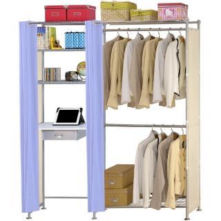 【巴塞隆納】W2型90公分+E60公分電腦桌衣櫥架
