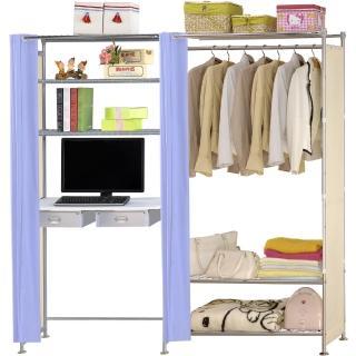 【巴塞隆納】W3型90公分+E90公分電腦桌衣櫥架