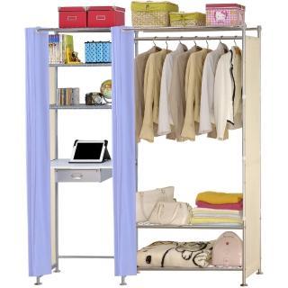 【巴塞隆納】W3型90公分+E60公分電腦桌衣櫥架