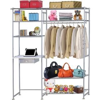【巴塞隆納】WP4型90公分+E60公分電腦桌衣櫥架(無防塵)