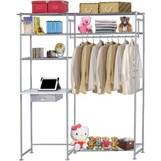 【巴塞隆納】WP3型90公分+E60公分電腦桌衣櫥架(無防塵)