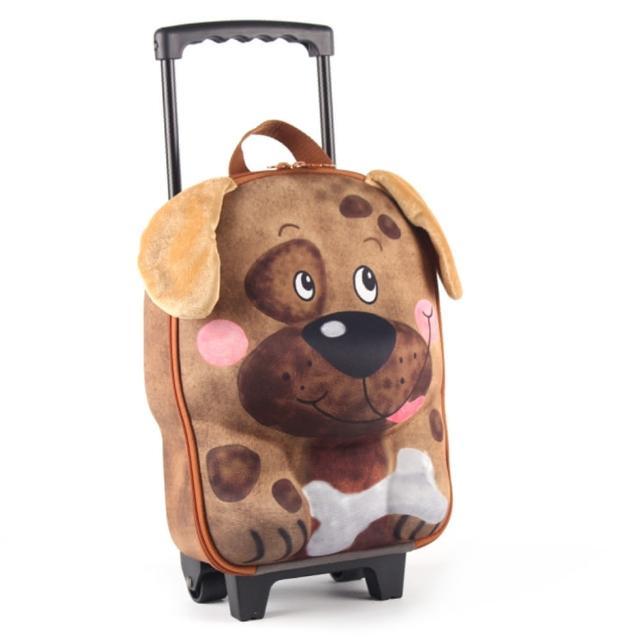 【德國 okiedog】兒童3D動物造型系列-拉桿式行李箱(狗)