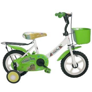 【Adagio】12吋酷樂狗輔助輪童車附置物籃(綠色)