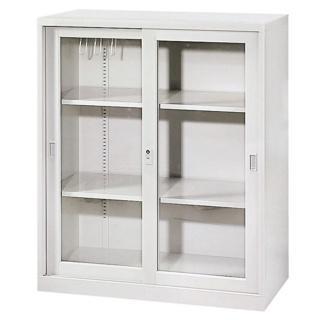 【時尚屋】玻璃加框拉門上置式公文櫃(Y104-6)