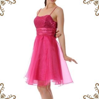 【摩達客】美國進口Landmark細肩帶桃粉紅星閃蓬紗裙派對小禮服-洋裝(含禮盒-附絲巾)