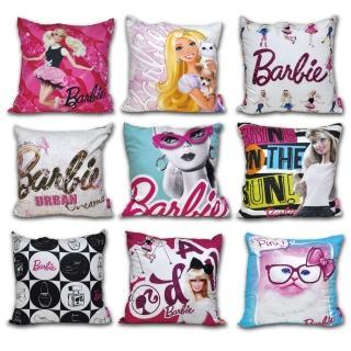 【Barbie】《瘋狂大降價》60支紗絲光棉麂皮數位靠枕(9款)