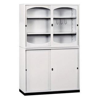 【時尚屋】K415圓框A級4x6拉門鐵櫃(Y116-4)