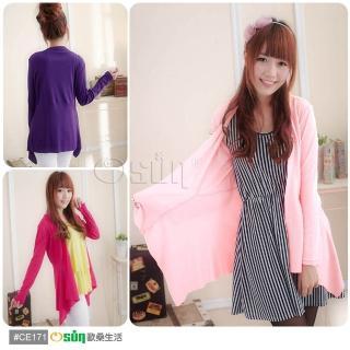 【Osun】台灣製超顯瘦針織羅紋小外套2入(共16色)