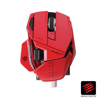 【MAD CATZ】R.A.T. 9 紅色無線雷射雙眼電競滑鼠
