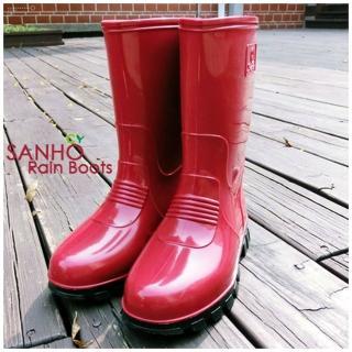 【Sanho】優雅式長雨靴(紅色)