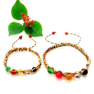 【JIN YANG】平安祈福五色繩母子手環(母子款)