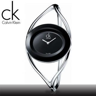 【瑞士 CK手錶 Calvin Klein】雙曲線手鐲簍空造型女錶(K1A23102-K1A23602)