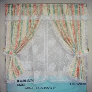 【櫻之舞】台灣製造-B窗系列緹花窗簾(直條-200-180cm)