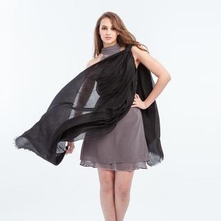 5TH AVE 全球限量300支紗Shahmina穿戒披肩(時尚黑)