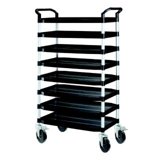 【COLOR】豪華大型8層工具/餐推車(載重橡膠輪)