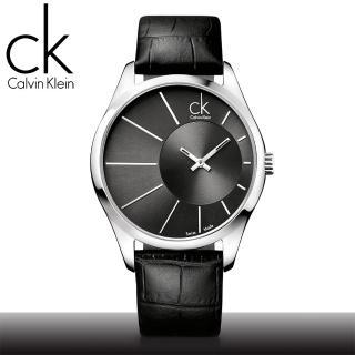 【瑞士 CK手錶 Calvin Klein】光芒系列_皮錶帶石英男錶(K0S21107)